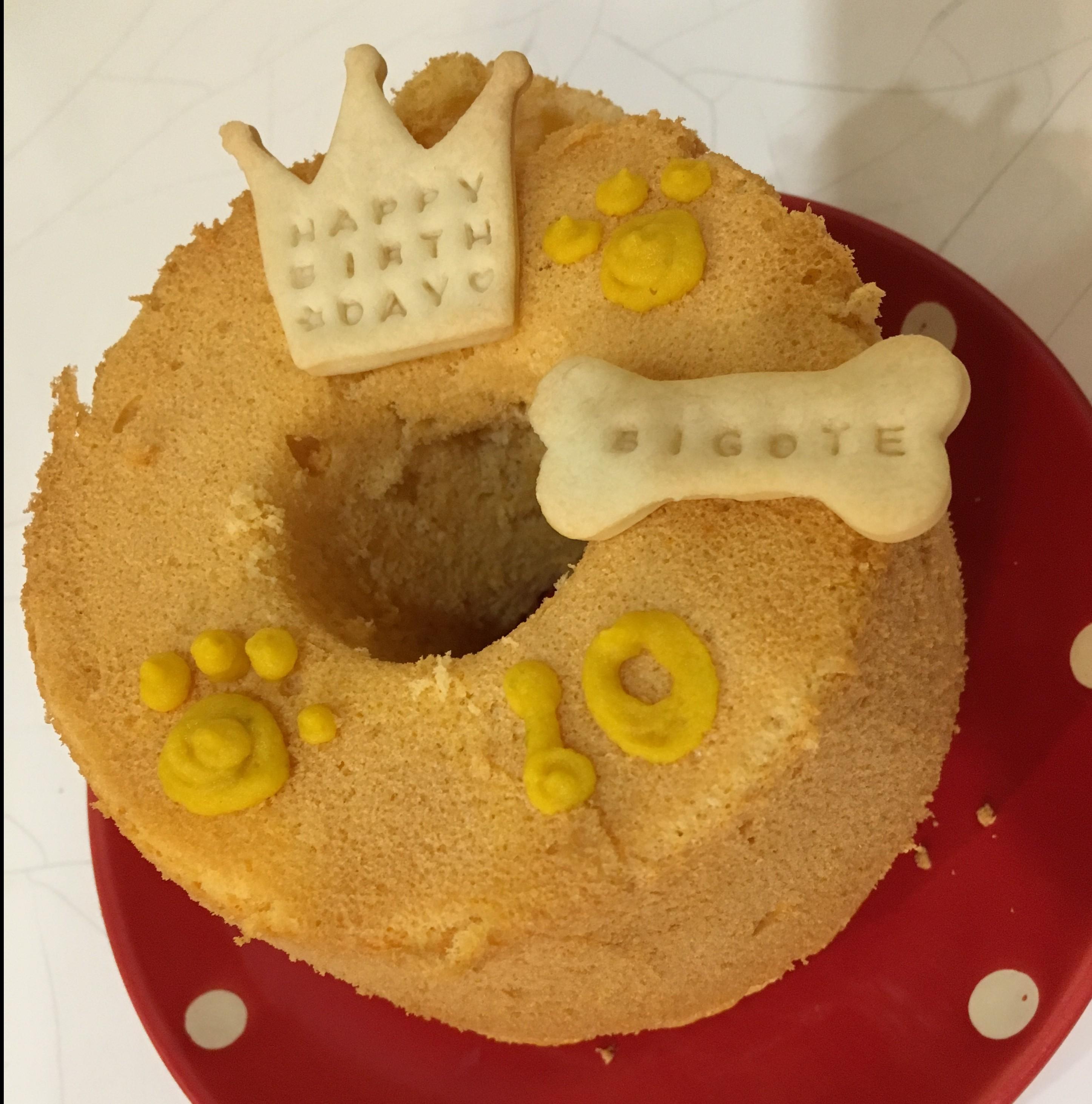 季節のシフォンケーキ (直径12cm)  ※誕生日ケーキ もっと大きいものも作れます