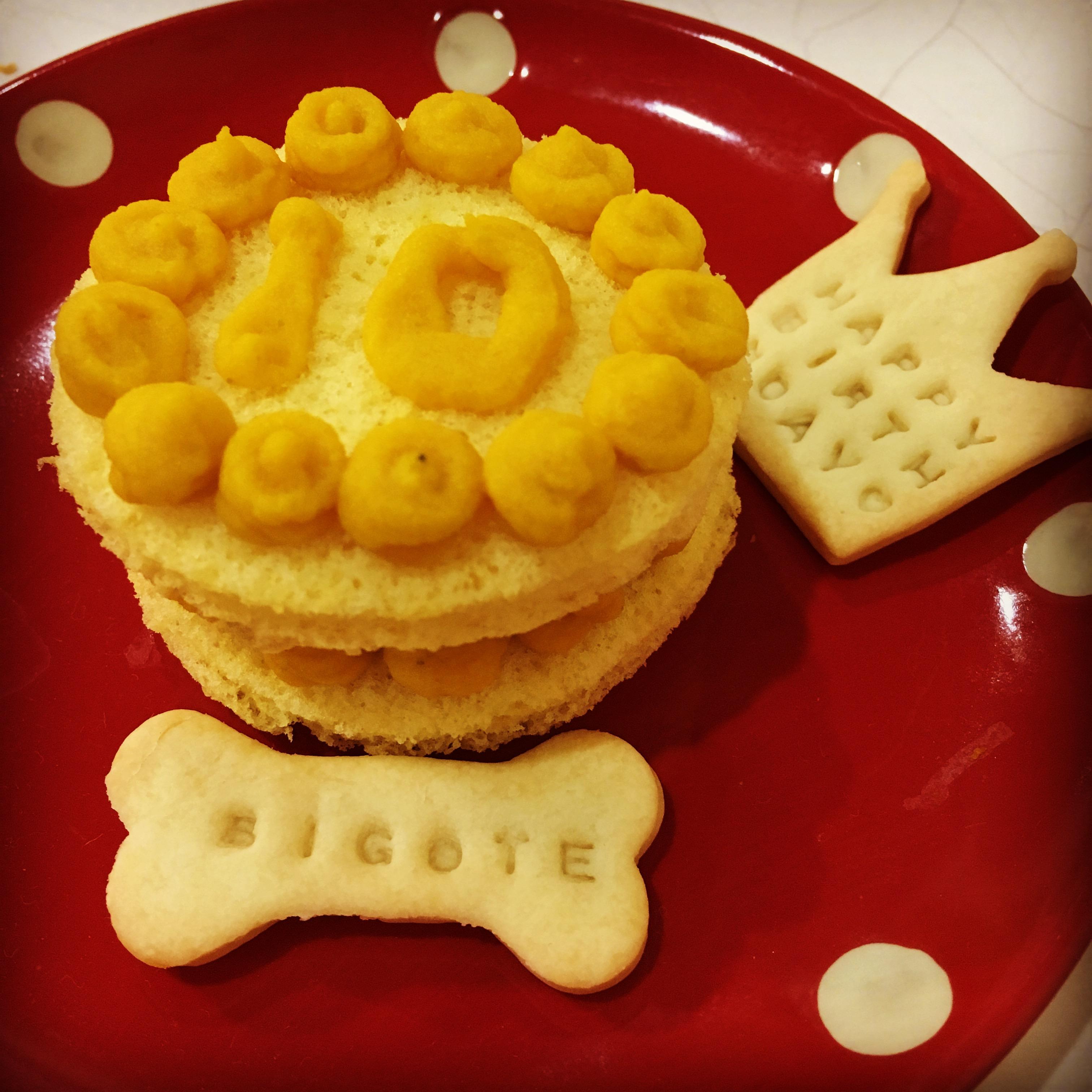 かぼちゃのミニ2段ケーキ(直径6cm) ※誕生日ケーキ もっと大きいものも作れます